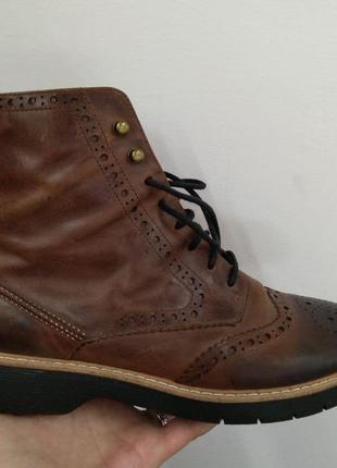 Кожаные ботинки на шнурках clarks р. 42