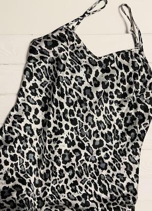 Шикарная сексуальная леопардовая шелковая ночнушка , р. s/м