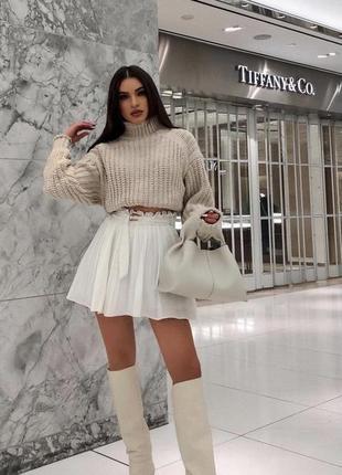 Крутой укороченый свитер zara