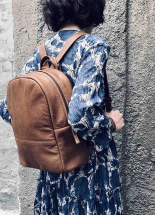 Рюкзак кожаный минималистичный