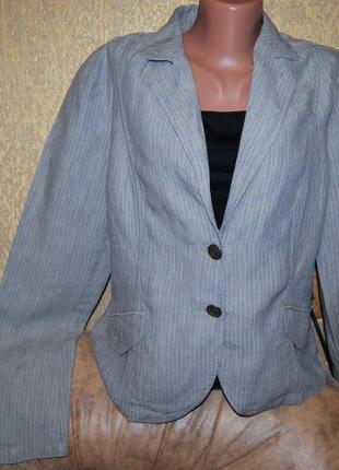 Серый натуральный брендовый пиджак без подкладки пог 53 см и много всего другого