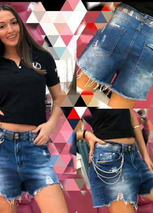 Ктурейшие турецкие джинсовые шорты, люкс серия, размер л.
