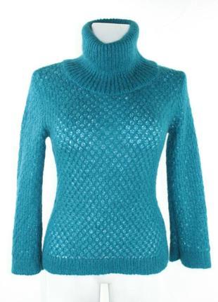 Бирюзовый вязаный свитер we