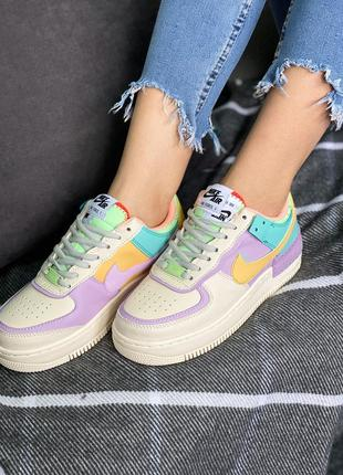 Женские кроссовки nike air force 1 shadow pale ivory