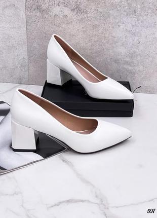 Элегантные женские белые туфельки imperio 💕