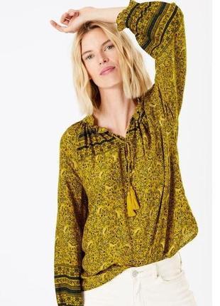 Блуза новая воздушная в роскошный принт marks&spencer uk 14/42/l