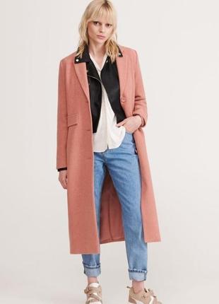 Длинное кремовое пальто