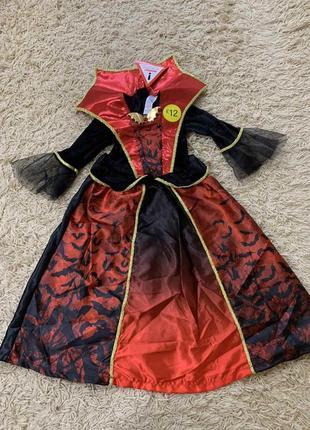 Платье вампирша вампир хеллоуин на 5-6лет
