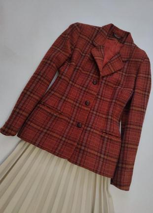Винтаж пиджак  жакет в клетку англия laura ashley uk 12