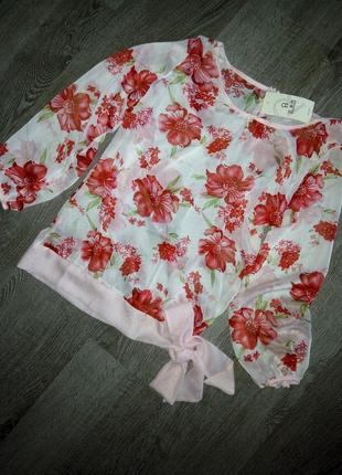 Потрясающая лёгкая шифоновая блуза baluoke