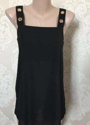 Шифоновая блуза майка на бретелях