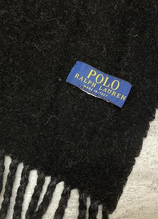 Шарф polo rallph lauren, т.серый, шерстяной, оригинальный