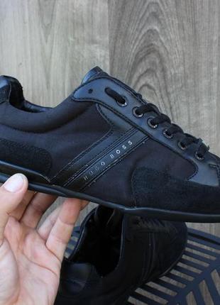 Премиальные кроссовки туфли hugo boss black оригинал 44 размер