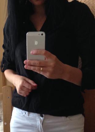 Черная стильная рубашка esprit
