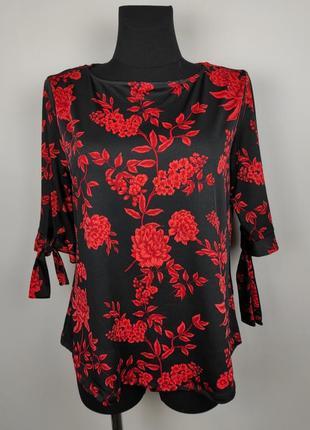 Блуза новая цветочная трикотажная george uk 14/42/l