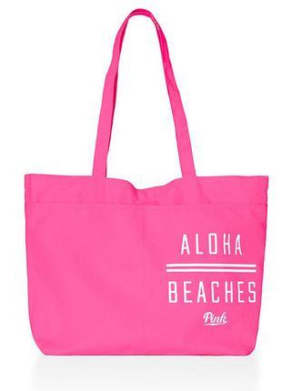 Victoria´s secret сумка оригинал виктория сикрет пляж пляжная розовая victoria pink пинк