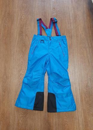 Лыжные брюки р. 110-116 5-6л зимние комбинезон