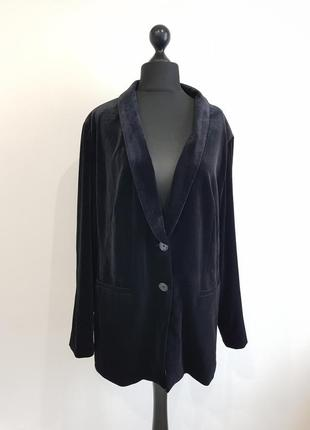 Черный бархатный велюровый пиджак жакет triangle