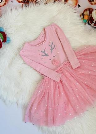 Новогоднее платье малышке mothercare 9-12 м