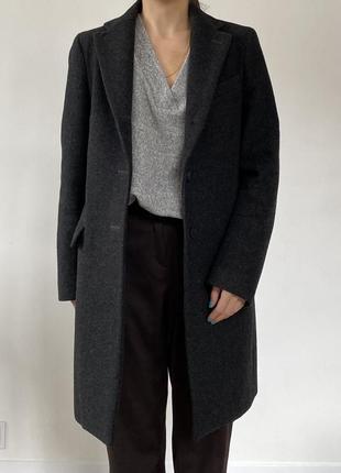 Шерстяное пальто премиум uniqlo x jil sander