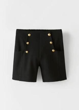 Модные шорты шорты-бермуды для девочки zara (испания)