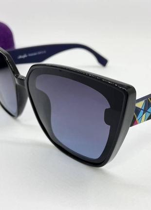 Atmosfera очки женские солнцезащитные глянцевая черная оправа с цветными дужками