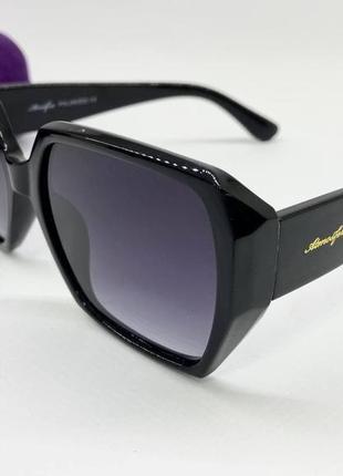 Atmosfera очки женские солнцезащитные глянцевая черная геометрия