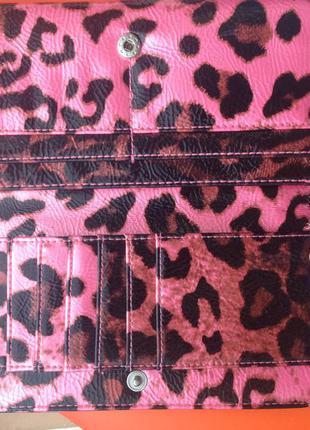 Кошелек h&m розовый леопардовый3