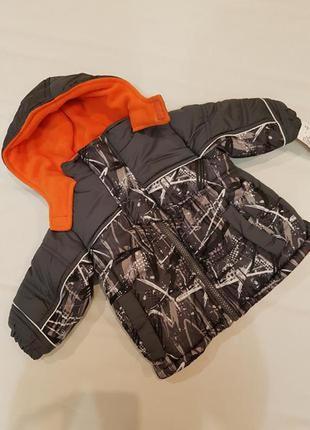 Ixtreme куртка парка теплая на флисовой подкладке наполнитель холлофайбер