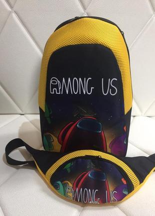 Among us рюкзак и банана амонг ас