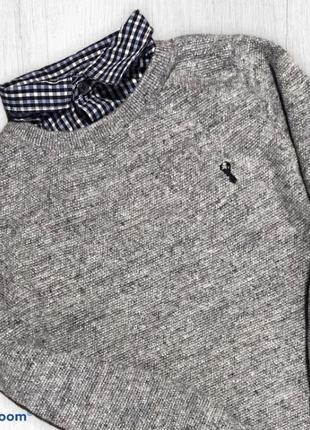 Next джемпер весна фактурный с рубашкой 8 лет 128 см3 фото