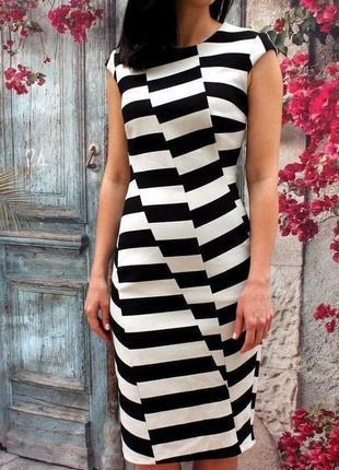 Платье в полоску люксового брэнда karen millen