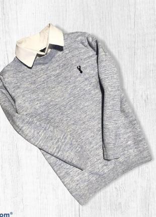 Джемпер с рубашкой next весенний 6-7 лет 116-122 г