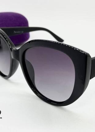 Atmosfera очки женские солнцезащитные черные глянцевые кругляшки с поляризацией