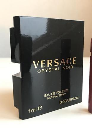 Пробник versace - crystal noir edt 1ml