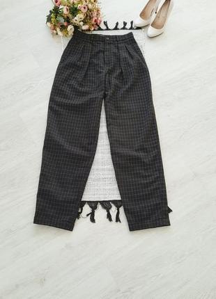 Модные брюки в клетку , штаны в клетку  шерстяные штаны в клетку