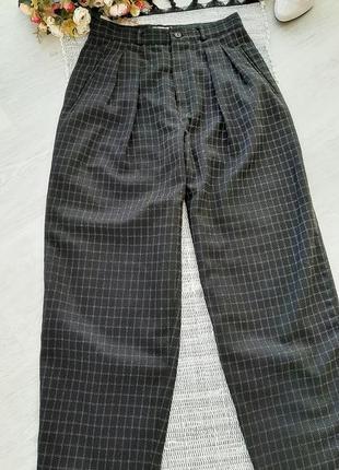 Модные брюки в клетку , штаны в клетку  шерстяные штаны в клетку3 фото