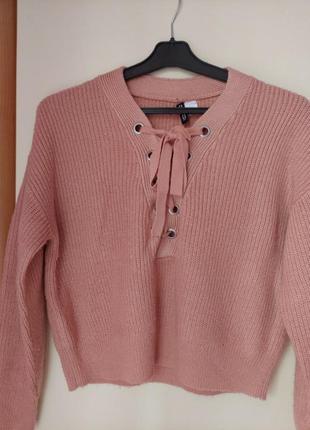 Персиковый свитер от h&m😍