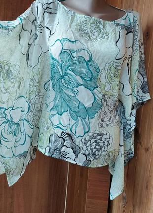 Шелковая h&m накидка порео из натурального шелка блуза кофточка