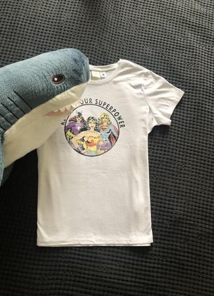 Белая футболка marvel starwars h&m