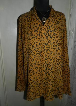 Блузка стильная,в актуальный принт,большого размера,costes