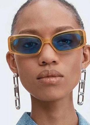 Окуляри прямокутні блакитні