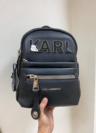 Рюкзак женский karl lagerfeld черный (карл лагерфельд, клатч, кошелек, сумка, сумочка)