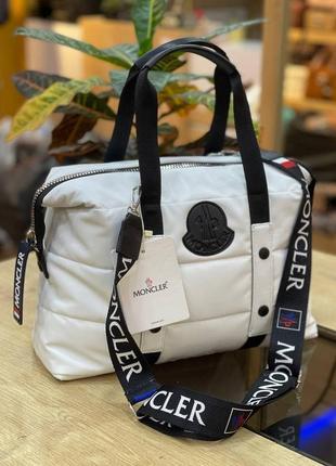 Сумка женская moncler puf white белая (монклер, клатч, кошелек, рюкзак, сумочка)