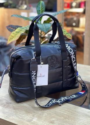 Сумка женская moncler puf black черная (монклер, клатч, кошелек, рюкзак, сумочка)