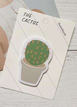 Бумага для записей стикеры notes кактус