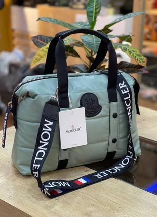 Сумка женская moncler puf mint ментоловая (монклер, клатч, кошелек, рюкзак, сумочка)