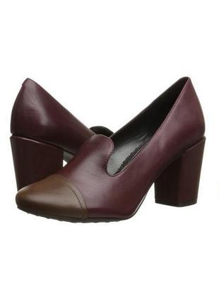 Easy spirit оригинал туфли лоферы кожаные на удобном широком каблуке бренд из сша