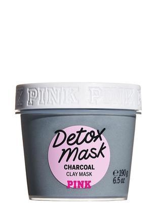 Маска для лица victoria's secret pink detox mask charcoal face and body mask