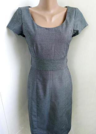 Серое платье-футляр h&m
